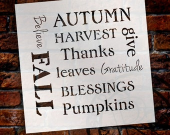 Harvest Expressions - Word Art Stencil - Select Size - STCL732 - by StudioR12