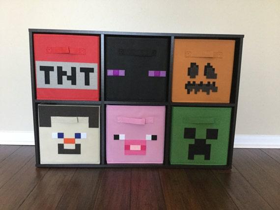 Kids Storage Cube Organizer Toy Box Kids Bedroom Furniture: Minecraft Storage Bin Set Of THREE Storage By