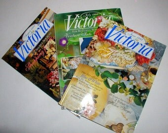 Vintage 1993 Lot of Victoria Magazines June July August Summer Issues Victorian House And Garden Decorating Periodicals
