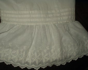 Victorian Edwardian White Bloomers Pantaloons Drawers Split Leg Whitework Embroidery Ruffle