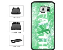 Liver Cancer Awareness Faith Ribbon - Samsung Galaxy s3 s4 s5 s6 s7 Edge Plus Note 2 3 4 5