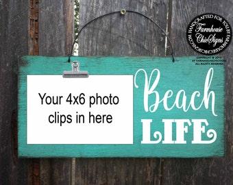 beach life, beach decor, beach house decoration, photo holder, beach sign, beach house decor, beach picture frame, photo holder, 29