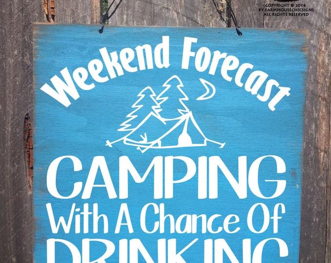 camping decor, camping sign, camping decoration, Camping, Camper Sign, Camper decor, camping beer sign, beer camping sign, 260