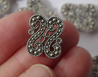SLIDER BEADS, 2 hole, (qty 5) multi strand, filigree connector, beading supplies, destash,Jane Possum Bari, jewelry supplies