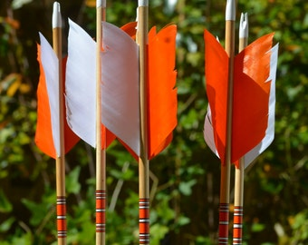Archery Flu Flu arrows,wood arrows, small game hunting arrows
