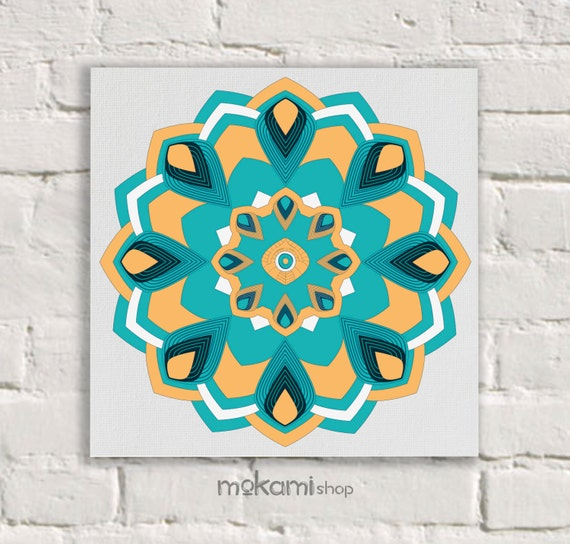 Canvas print MANDALA Art Wall Decor mineral mandala by mokami