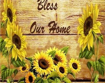 Sunflowers Bless Out Home  Coasters  Home Decor    Set of 4  US Free Shipping