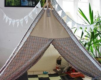 kids teepee, kids play teepee, kids teepee tent, childrens teepee tent, play tent, play teepee tent, BIG kids teepee,