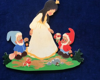 Painted wood storybook plaque