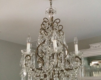 Antique French Italian Crystal Chandelier Beautiful!!