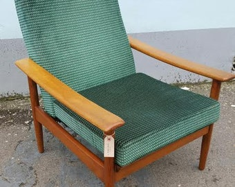 SOLD: 1960s Guy Rogers Armchair/Lounge Chair. Re-Upholstered & Re-webbed. Vintage/Retro/Mid Century. Pair Available.