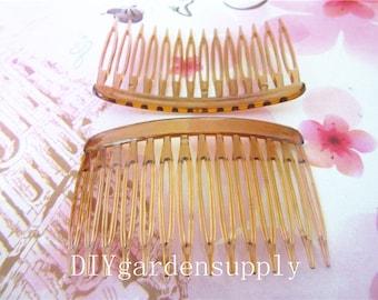 New Products Wholesale 10pcs 69x46mm (14 teeth)4 colors hair teeth comb/head teeth comb Plastic findings