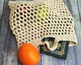 Crochet Market Bag - Farmers Market Tote - Reusable Shopping Bag - Grocery Bag - Crochet Mesh Tote - Beach Bag - Reusable Grocery Bag - Tote