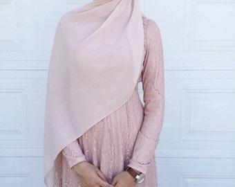 Kashmiri Pink Lace Gown