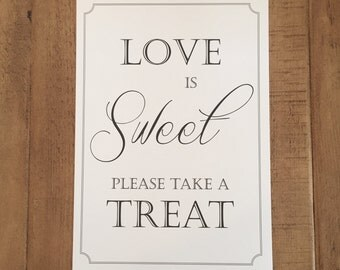 Love is Sweet Candy/Sweet Buffet Sign