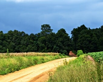 Instant Download Storm Clouds over Dirt Road Picture - Wallpaper or Background - Printable 8x10