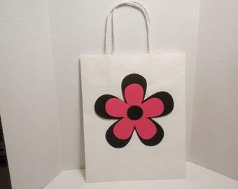Gift Bag-Large Gift Bags, Wedding Gift Bags, Bridal Shower Gift Bags, Paper Gift Bags,Paper Bags, Flower Gift Bags, Pink Paper Bags
