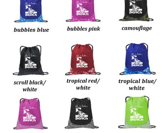 Life is Better at the Beach Cinch Pack Drawstring Sack Backpack Bag