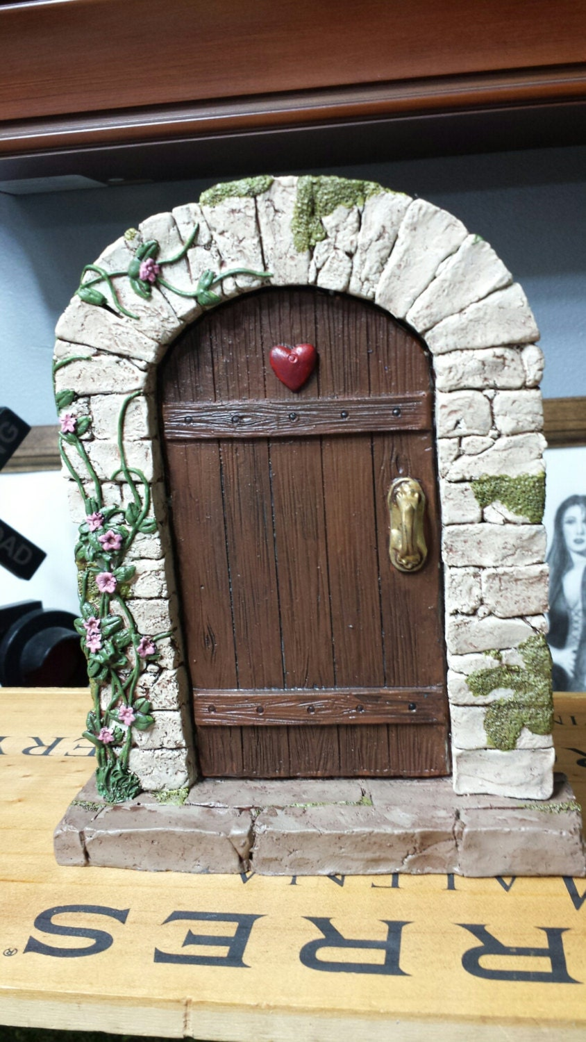 Large fairy door garden door for Large gnome doors