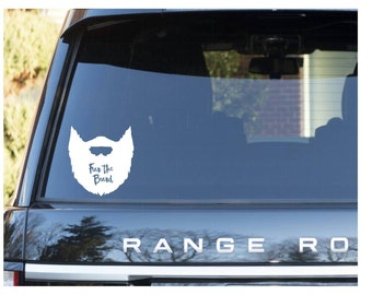 Fear the Beard car decal | car decals with beards | beard car decal | Yeti decals| Yeti decals for guys | beard sticker | decals for guys