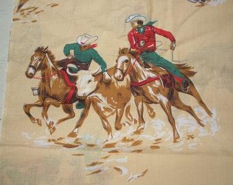 Vintage Cowboy Fabric
