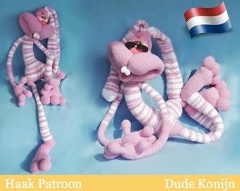 121NLY Haakpatroon - Konijn Dude Keks - Amigurumi zacht speelgoed PDF file by Pertseva Etsy
