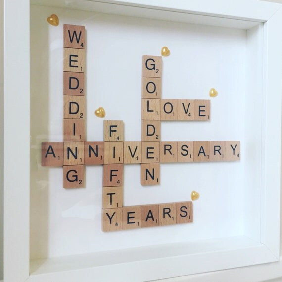 Personalised Wedding Photo Frames Uk : Personalised wedding anniversary frame gift. Golden silver ruby pearl ...