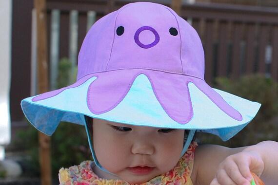 Tako Sun Hat ~ Cute Octopus Kids Sunhat PDF Sewing Pattern ~ 6 months to 4 years  ~