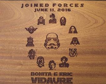 Star Wars wedding cutting board