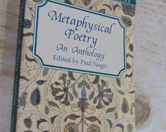METAPHYSICAL  Poetry, An Anthology, History of Poetry, Theology, Philosophy, Educational Reference Book