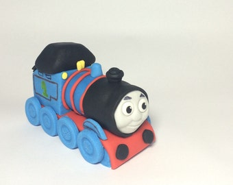 Thomas the engine cake topper made from fondant/ gume paste