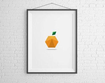 Orange Print. Home Decor. Instant Download.