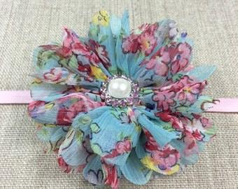 Newborn headband - Girls headband - Infant headband - Flower headband - Baby girl headband - Toddlers headband - Pink flower headband
