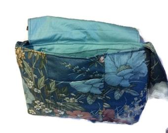 Blue flower messanger bag