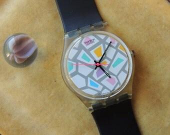 Vintage 1988 Swatch Quartz Watch