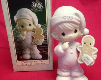 "Precious Moments ""Wishing You The Sweetest Christmas"" from 1993 -Original Box"