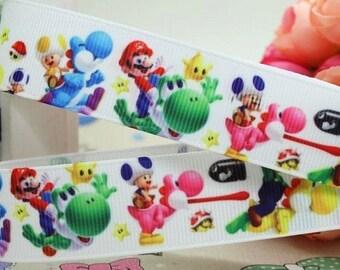 Mario Karts Ribbon - 1 Metre Cake Decorating Crafts Hair Bow Wrapping New LB37