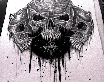 Triple Skull(original drawing)