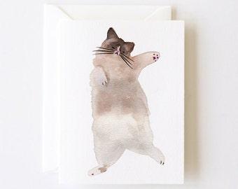 Cutie Kitten Greeting Card with Envelope