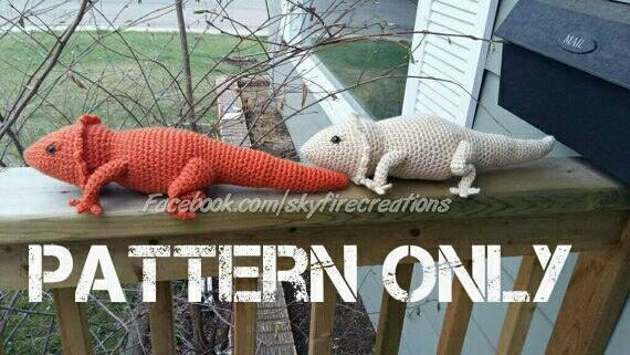 Knitting Pattern For Bearded Dragon : PATTERN ONLY Bearded Dragon Crochet Pattern