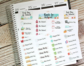 Back to School Stickers - Planner Set - Planner Stickers - Matte