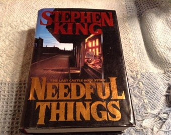 NEEDFUL THINGS, by Stephen King, TRUE First Edition/First Printing Hardback