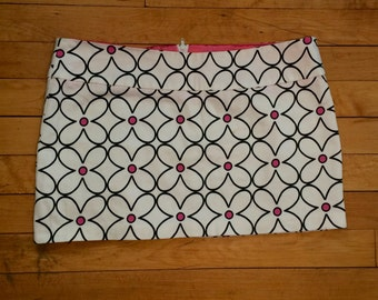 vintage geometric floral mini skirt