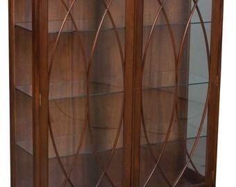 Vintage Mahogany Glass Door Bookcase or Display Cabinet