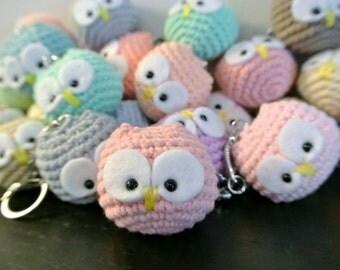 Crochet Owl Amigurumi Keychain - Handmade Crochet Amigurumi Toy Doll - Owl Crochet - Amigurumi Owl