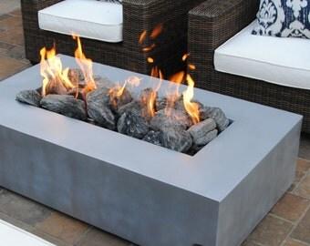 Metal Custom Outdoor Gas Fire Pit, Push Button Start!
