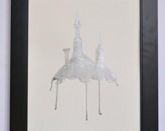 "Original Painting in Ink ""Heights"""