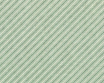 Fabric by the Yard, Odds and Ends by Julie Comstock / Cosmo Cricket, Moda 37047 13, Green Stripe, CLEARANCE!