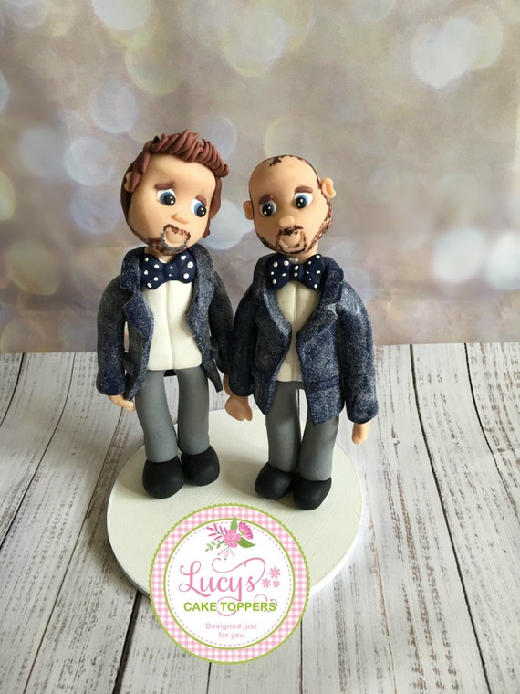 Wedding cake Topper - Fully Personalised a lovely keepsake - Same sex / gay wedding