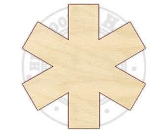 Star of Life - EMT Sign - EMT Symbol - Unfinished Wood Shape - 170320